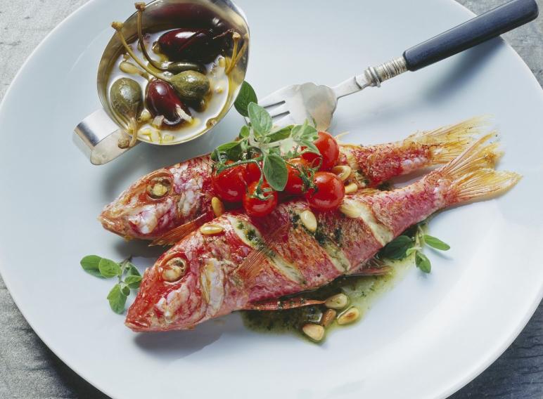 Receta de Salmonete a la Siciliana con Alcaparras